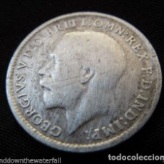 Material numismático: MONEDA INGLESA DE PLATA, 3 PENIQUES 1919.. Lote 178067825