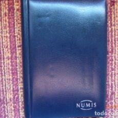Material numismático: 14 HOJAS CLASIFICADOR MONEDAS ,Y CLASIFICADOR PEQUEÑO USADO,FOTOS. Lote 178173547