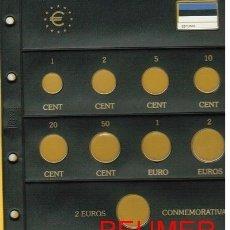 Material numismático: HOJA NUMIS PARA SERIE €URO 1 PAÍS/HOJA + 2 €UROS.. Lote 179931041