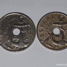 Material numismático: ERROR - 2 MONEDAS 50 CENTIMOS 1953 Y 1962. Lote 180105258