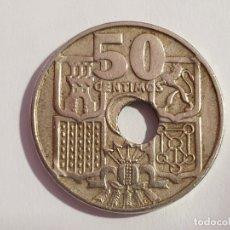 Material numismático: ERROR - MONEDA 50 CENTIMOS 1949. Lote 180114178