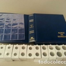 Material numismático: 100 HOJAS FOLIO PARA 20 CARTONES + 2000 CARTONES MONEDAS SURTIDOS.. Lote 180283952
