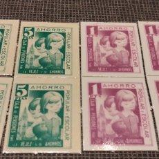 Material numismático: 1 Y 5 PESETAS LA CAIXA LOTE DE 8 CUPONES. Lote 180900768