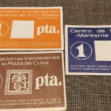 Material numismático: VALES 1 PESETA EDITADOS POR CAJA DE AHORROS LAYETANA. Lote 180901223