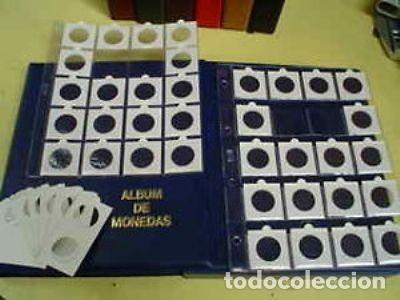 100 HOJAS FOLIO PARA 20 CARTONES + 2000 CARTONES MONEDAS SURTIDOS. (Numismática - Material Numismático)