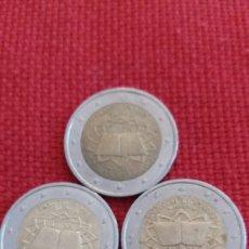 Material numismático: LOTE 3 MONEDAS 2 EUROS CONMEMORATIVOS FRANCIA 2007. Lote 181992715