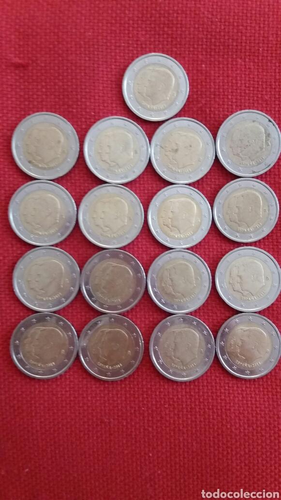 LOTE 17 MONEDAS 2 EUROS CONMEMORATIVOS ESPAÑA 2014 (Numismática - Material Numismático)
