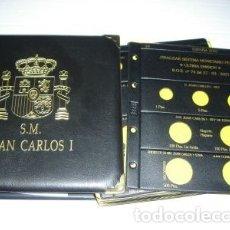 Material numismático: 2 ALBUMES JUAN CARLOS I, CON JUEGO COMPLETO HOJAS (18 HOJAS).. Lote 219333852