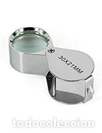 LUPA RELOJERO NUEVO X30 AUMENTOS SELLOS MONEDAS JOYERO. DE BOLSILLO NUEVA (Numismática - Material Numismático)