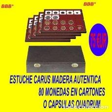 Material numismático: ESTUCHE CON 4 BANDEJAS. LINDNER.. Lote 182612183