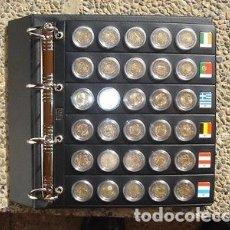 Material numismático: ALBUM CON 8 HOJAS PARA 288 MONEDAS DE 2€UROS (SIN CÁPSULAS).Y, BANDERAS. Lote 182612855