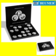 Material numismático: ESTUCHE VOLTERRA, PARA 20 ONZAS DE PLATA DE PANDA CHINA EN CÁPSULAS ORIGINALES.. Lote 210971205