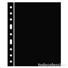 Material numismático: SEPARADORES PLÁSTICO NEGROS. FORMATO 242X312MM.. Lote 213041120