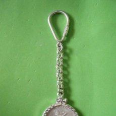 Material numismático: MUY BONITO LLAVERO DE PLATA CON MONEDA 25 PESOS DE MÉXICO. Lote 183200985