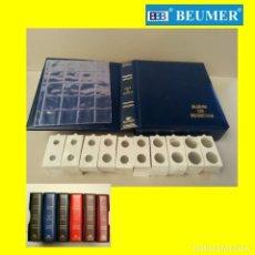 Material numismático: ALBUM BBB*, MAMUT CON CAJETÍN IDÉNTICO. 4ANILLAS 80/80/80. + 1000 CARTONES + 25 HOJAS 20 DIVISIONES. Lote 196937241