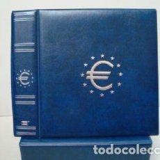 Material numismático: ALBUM MONEDAS €URO MAMUT AZUL 30X32X9 CM. CON CAJETÍN.. Lote 295369978
