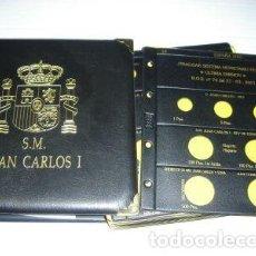 Material numismático: 2 ALBUMES JUAN CARLOS I, CON JUEGO COMPLETO HOJAS (18 HOJAS).. Lote 184637072