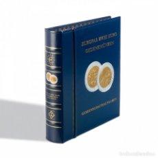 Material numismático: ÁLBUM PRREIMPRESO CLASSIC-OPTIC EMISIÓNES EUROPEAS CONJUNTAS DE 2 EURO + CAJETÍN,AZÚL. Lote 184712477