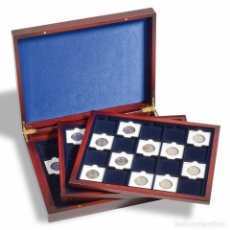Material numismático: ESTUCHE PARA MONEDAS VOLTERRATRIO DE LUXE, CADA UNA P.20 QUADRUM CÁPSULAS 50X50 MM,BLEU. Lote 184713913