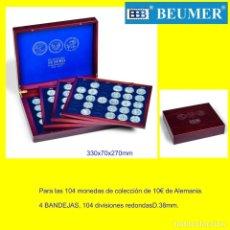 Material numismático: ESTUCHE VOLTERRA QUATRO, PARA LAS 104 MONEDAS ALEMANAS DE 10 €UROS EN CÁPSULAS.. 4 BANDEJAS.. Lote 184729583