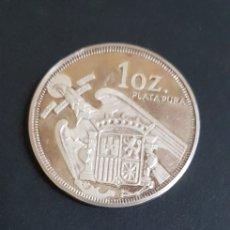 Material numismático: 1 OZ PLATA PURA . FRANCISCO FRANCO CAUDILLO DE ESPAÑA 1892 1975. Lote 187197960