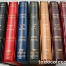 Material numismático: ALBUM BILLETES 27X33CM. 4 ANILLAS.VERDE. STANDARD. Lote 187199011