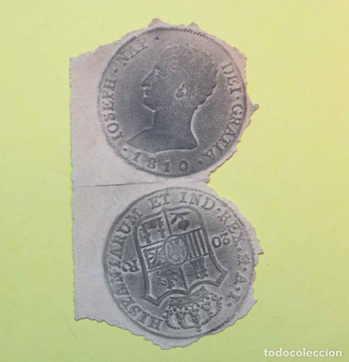 Material numismático: 3 CALCOS de MONEDAS (papel, S. XIX) Numismática ¡Originales! ¡Coleccionista! - Foto 5 - 189739732