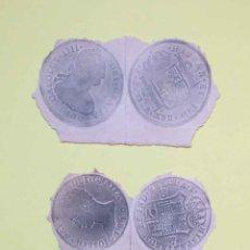 Material numismático: 3 CALCOS DE MONEDAS (PAPEL, S. XIX) NUMISMÁTICA ¡ORIGINALES! ¡COLECCIONISTA!. Lote 189739732