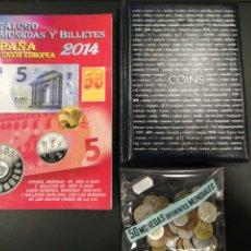 Material numismático: LOTE NUMISMSTICO. MONEDAS, CATALOGO Y ALBUM. Lote 195243708