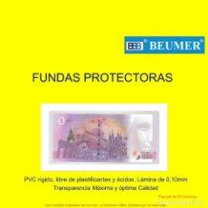 Material numismático: FUNDAS PARA BILLETES, TARJETAS POSTALES, TARJETAS TELEFONICAS, LOTERIAS,CUPONES, CARTAS,ETC.. Lote 195289767