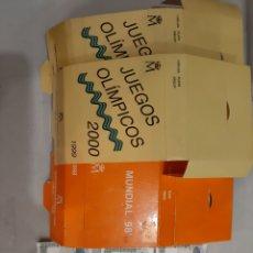 Material numismático: FUNDAS DE CAJAS Y CERTIFICADO 1000 PTAS JUEGOS OLIMPICOS 2000 MUNDIAL 98. Lote 195456713