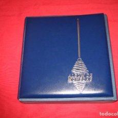 Material numismático: ALBUM DE MONEDAS AZUL CON CAJETIN. Lote 197467703