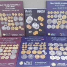 Material numismático: 6 LIBRO DE SUBASTA DE MONEDA MARI HERVERA DIFERENTES AÑOS MIRA LAS FOTOS PRECIO POR UNIDAD. Lote 197588427