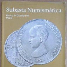 Material numismático: SUBASTA NUMISMATICA JOSE A. HERRERO 14 DE DICIEMBRE DE 2004 MADRID. Lote 197589297