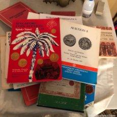 Material numismático: LOTE DE CATÁLOGOS Y LIBROS DE SUBASTA, TODO LO QUE SE VE. Lote 198092651