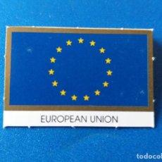 Material numismático: BANDERA DE LA UNIÓN EUROPEA, PARA HOJA DE MONEDAS DE EURO. Lote 199119172