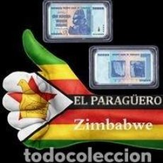 Material numismático: AFRICA ZIMBABWE LINGOTE 100 BILLONES DE DOLARES PLATA COLOREADA 32 GR Nº1. Lote 199174710