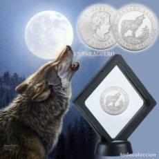 Material numismático: CANADA 2 DOLARES 2015 MEDALLA TIPO MONEDA PLATA ( LOBO Y REINA ELIZABETH 2ª ) - PESO 33 GRAMOS - Nº2. Lote 199251825