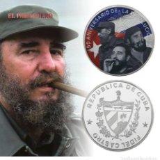 Material numismático: CUBA 2016 MEDALLA TIPO MONEDA PLATA ( 90 ANIVERSARIO DE LA REVOLUCION CUBANA) - PESO 33 GRAMOS - Nº2. Lote 199427368