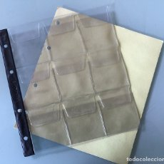Materiale numismatico: HOJA TIPO NUMIS PARA 9 MONEDAS GRANDES MARCA FILABO (10 DISPONIBLES). Lote 195475041