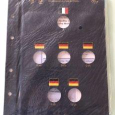 Material numismático: HOJAS VISTA DE FARO (LEUCHTTURM) PARA MONEDAS DE 2 € 50 ANIVERSARIO DEL TRATADO DEL ELISEO. Lote 201165526