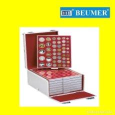 Material numismático: MALETÍN ALUMINIO CON 8 BANDEJAS INCLUIDAS, MODELOS A ELEGIR. BBB* BEUMER*-*FARO DEL COLECCIONISTA. Lote 201803308