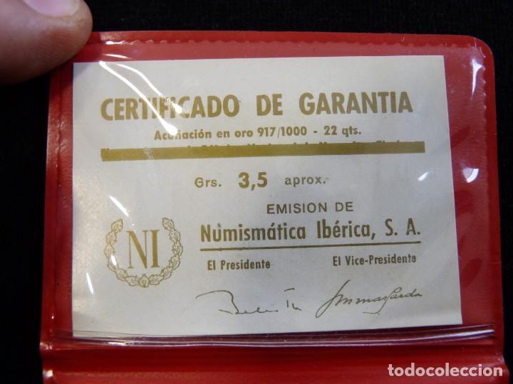 Material numismático: LOTE DE DOS CARTERAS VACIAS NUMISMÁTICA IBERIA, S.A., CON CERTIFICADO GARANTIA MONEDAS ORO DE 3,5 gr - Foto 4 - 202555996