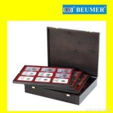 Material numismático: ESTUCHE LINDNER, DE MADERA AUTÉNTICA; MODELO CARUS 4, PARA 36 SLABS.. Lote 204430568
