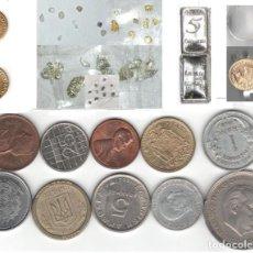 Material numismático: LOTE INVERSION COLECCION MONEDAS ORO PLATA PEPITAS LINGOTE JOYA PLATINO DIAMANTE. Lote 205191753