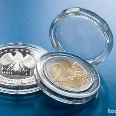 """Material numismático: CAPSULAS REDONDAS ULTRA """"LEUCHTTURM"""" TODOS LOS TAMAÑOS ***10U. DEL MISMO TAMAÑO***. Lote 289010753"""