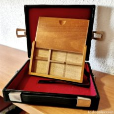 Material numismático: E11. BONITA PAREJA DE MALETIN Y ESTUCHE PARA COLECCIONISMO. VER DESCRIPCIÓN. Lote 206188165