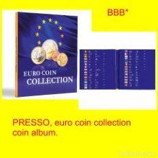 Material numismático: ALBUM POARA MONEDAS PRESSO €URO COIN COLLECTION. PARA 26 SERIES COMPLETAS DE €UROMONEDAS.. Lote 206248572