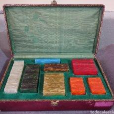 Material numismático: MALETIN CON FICHAS ANTIGUAS POKER. Lote 206521353