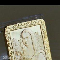 Material numismático: EXCLUSIVO LINGOTE DE ORO DE 24K DE ORO DE 30 GRAMOS.MONA LISA. Lote 208938210